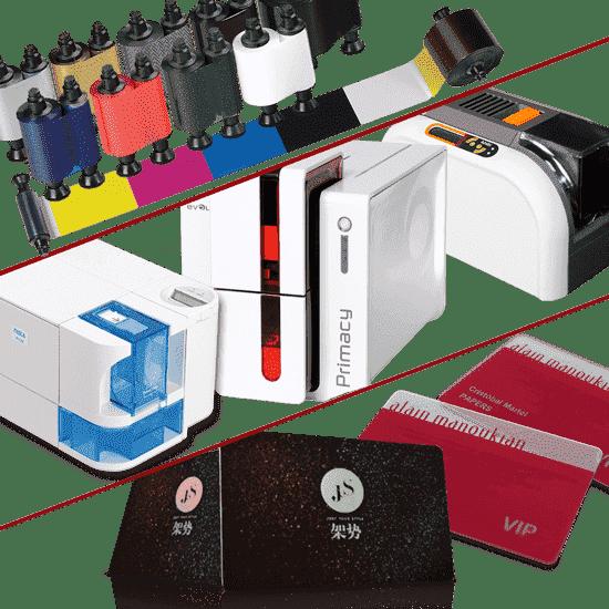 Distributeur d'imprimantes à cartes PVC