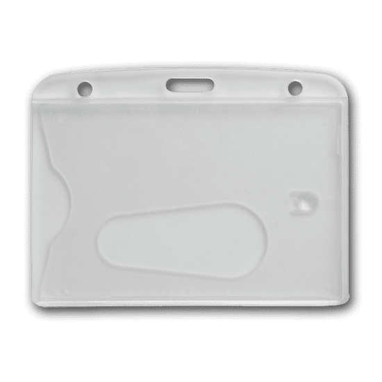 Porte badge suppport de badge tui pour carte pvc - Porte badge rigide transparent ...
